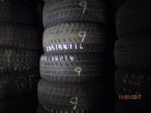 215/55R16 2 ONLY USED BRIDGESTONE SNOW TIRES