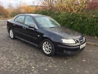 2006/06 SAAB 9-3 TID LINEAR SPORT 4 DOOR SAT NAV BLACK