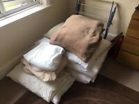 2 x SINGLE DUVETS, DUVET COVERS, SHEETS & PILLOWS - FREE
