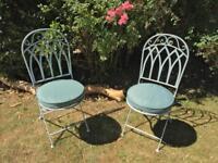 John Lewis 'Vichy' Garden Chairs + Cushions, Brand New, Pair