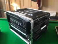 Custom EQ and XLR Rack Case Built DJ Stage Theatre Disco Feedthrough Neutrik Behringer 6U Flight