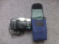 Canon camera Snappy LX2 35mm lense point and shoot film camera with camera case-£10