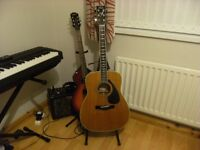 yamaha fg450sa acoustic guitar