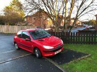 ABSOLUTELY MINT 02 PEUGEOT 206 1.1petrol with FULL YEARS MOT (not clio corsa 207 yaris polo)