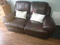 Leather 2 seater full electric recliner