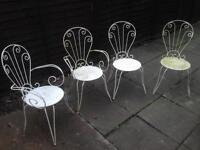 Cast iron garden chairs x4