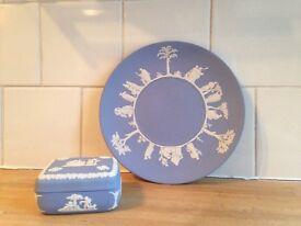 Wedgewood Plate and Trinket Box
