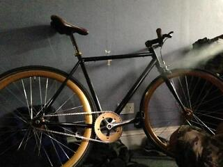 race bike no logo black and gold