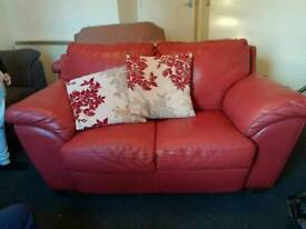 1 & 2 seater real leather DFS sofas