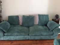 2 & 3 seater sofa in blue and grey