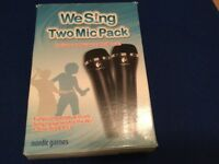 We sing two mic pack for the Wii