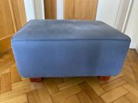 Blue foot stool