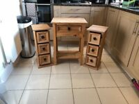 Lovely wood table and matching CD storage units Bargain