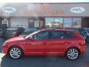 2009 Audi A3 2.0T (S-tronic), VERY LOW MILEAGE, LEATHER, DUAL S