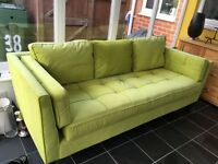 Lime Green 3 seater sofa