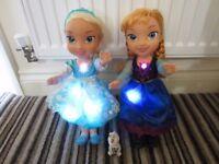 Disney Singing Anna & Elsa Frozen dolls