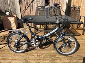 "Raleigh Evo 7 Unisex Adults Folding Bike Grey Aluminium Frame 7 Speed 20"" Wheel"