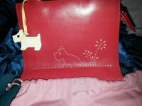 Gorgeous small red genuine Radley bag excellent condition