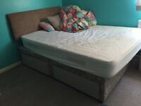 DOUBLE DUVAN BED AND MATTRESS IN GOOD CONDITION-PRICE INC DELIVERY 2 NORWICH, HAVE A SINGLE MATTRESS