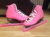 Riedell pink size 4 figure skates