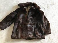 Vintage fur coat ladies size 14