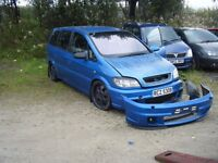 BREAKING ZAFIRA ASTRA GSI TURBO MANY PARTS COILOVERS ALLOYS ETC ETC CAN POST PRTS