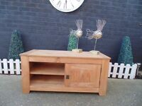 SOLID PINE TV CABINET PROPER CHUNKY ONE WITH LOADS OF STORAGE IN EXCELLENT CONDITION