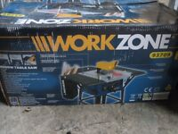 Table saw by Workzone. (Model 993709) 2000w. Very little use. Great condition.