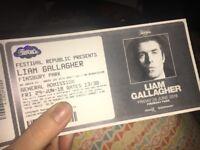 Liam Gallagher Finsbury Park x 2 FACE VALUE