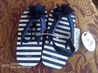 Girls Flip Flops, brand new with tags, size 7 infants