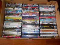 job lot of over 100 dvds, no copies, ex condition including new sealed & some unplayed