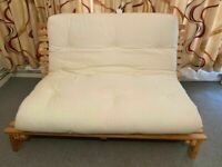 Kyoto Company Futon Sofa Bed with Thick Sofabed Mattress and Wood Base (Can Deliver)