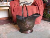 Large vintage Helmet style Coal Skuttle