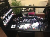 90 bottles different colours uv gel polishes and huge selection of glitters