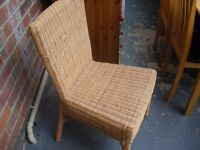 WICKER BEDROOM/BATHROOM/CONSERVATORY CHAIR - NEW LOWER PRICE
