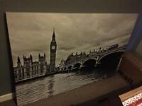 Large London canvas print