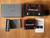 PIGTRONIX ECHOLUTION 2 analog stereo multi tap delay – MINT with MANUAL AND ALL ORIGINAL - £220 ONO