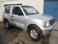 Mitsubishi SHOGUN DI-D Classic,short wheel base 3 door 4x4,full MOT,new tyres,radio/cd multichanger