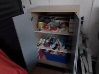 Larder Unit/Storage cupboard in grey