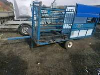 Harrington sheep handling system trailer with turnover crate tractor in great condition