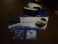Playstation VR, Camera and 2 games