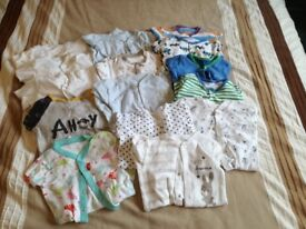9-12 months Babygros and vests