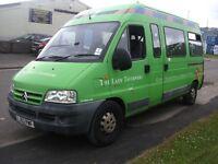 Citreon relay 17 seat minibus direct fom local authority.88000 miles, diesel,/day van camper