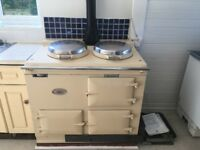 2 oven gas AGA in cream