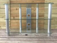 TV Stand (Glass and Silver)