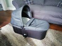 Baby Jogger Deluxe Pram Bassinet Charcoal Denim