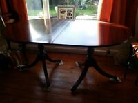 Large Traditional Extendable Dining Table with chairs - CHEAP