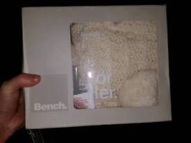 Brand new bench cream knitted hat and scarf 10