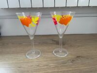 Plastic Flower Cocktail Cups - set of 8 identical