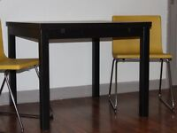 Ikea Bjursta extending table brown 1 year old